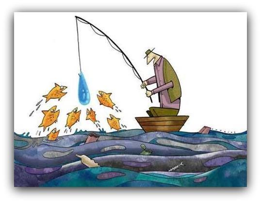 Pescaremos com isca de água limpa?
