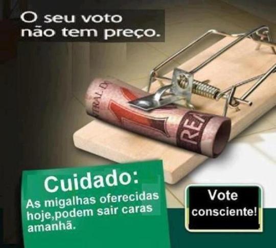 Não venda seu voto.